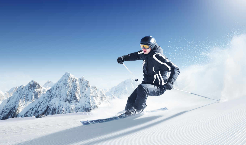 спорт, лыжи, снег, спуск, спорта,