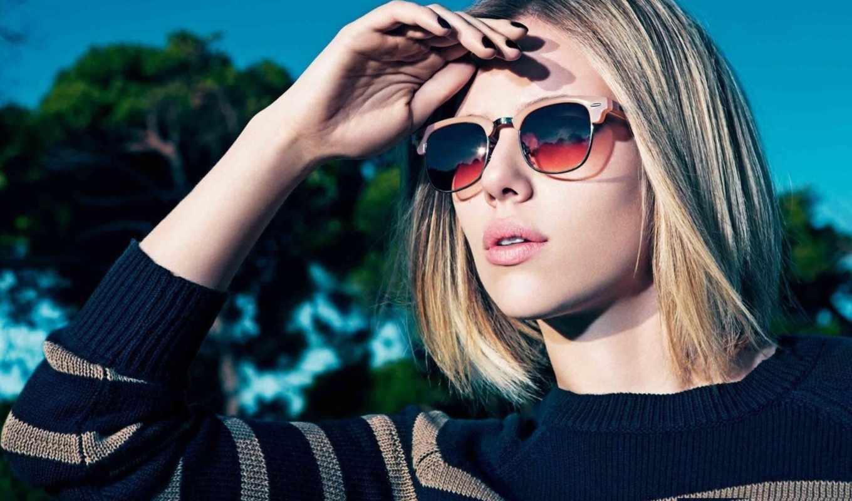 johansson, скарлетт, картинка, актриса, девушка, очки, модель,
