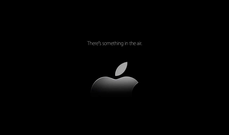 apple, лого, чёрный