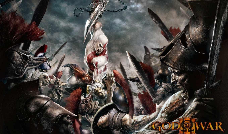 битва, kratos, war, сражений, совершенно, смерть, свой, игры, god,