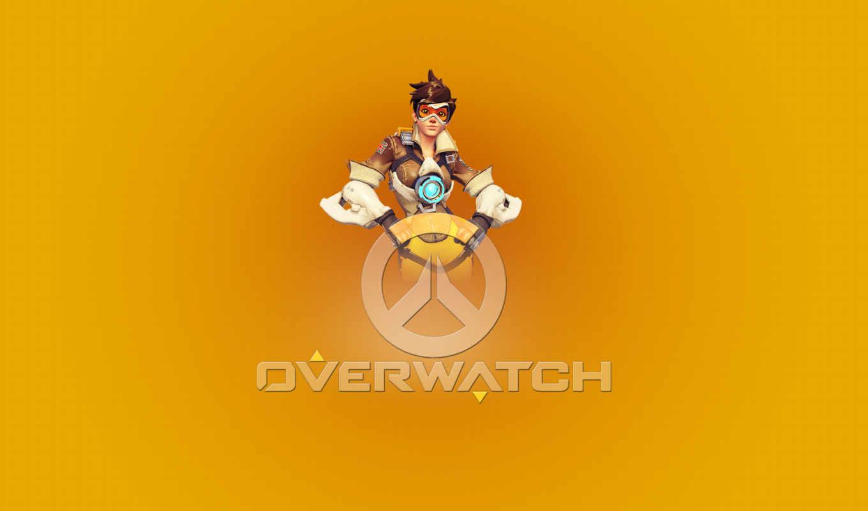 overwatch, игры, tracer, плакат, эмблема,
