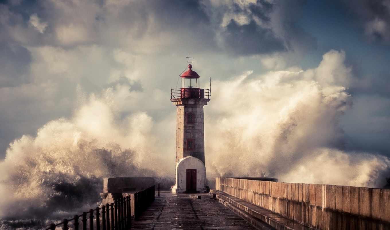 lighthouse, waves, буря, брызги, товар, океанские, aliexpress,