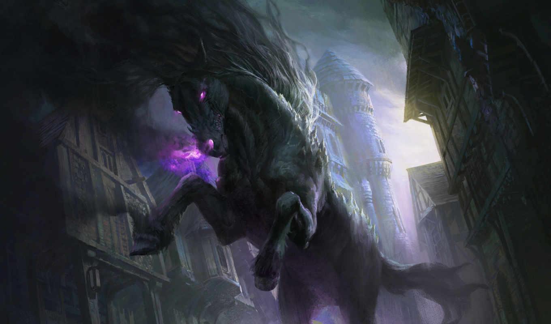 art, магия, лошадь, собрать, fantasy, nightmare, lee, game, хостинг, pavlozlo