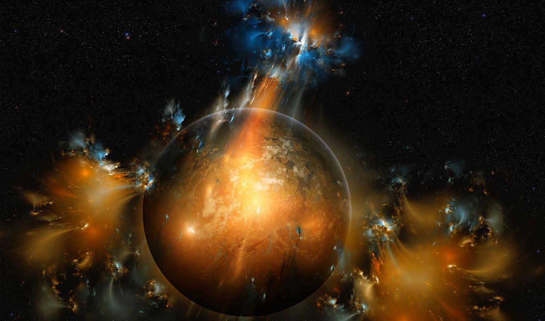 планета, космос, фантастика, звезды,