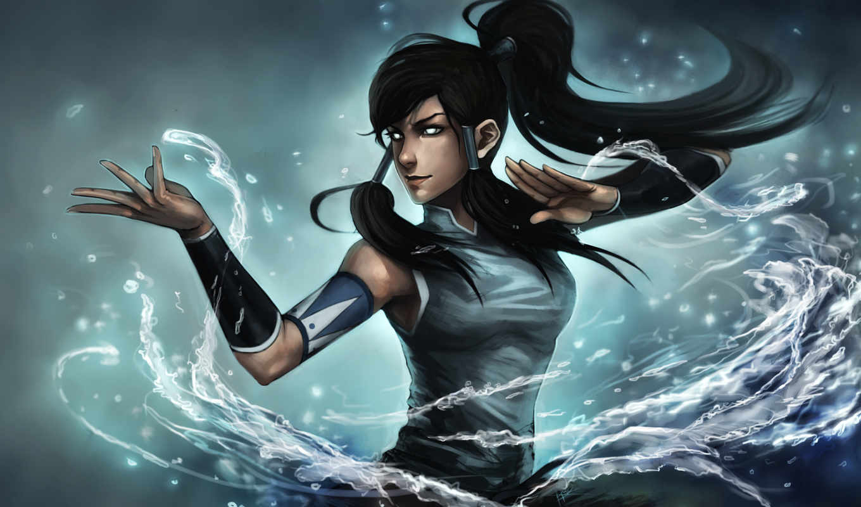 korra, вода, арт, девушка, глаза, legend, avatar, картинку, ninjatic, картинка,
