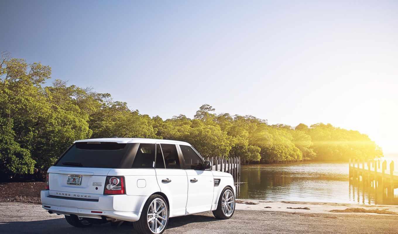 rover, range, land, sport, лэнд, white,