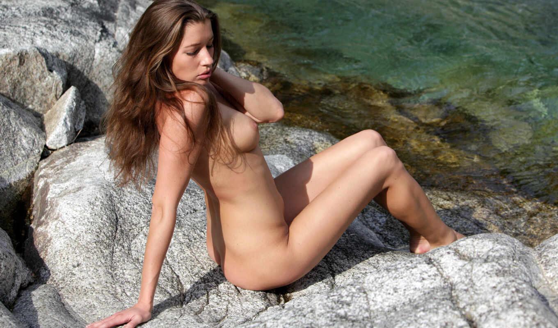 redhead, эротика, девушка, пляж, обнаженная, rocks, sexy, free, girls, hot, boobs, биг,