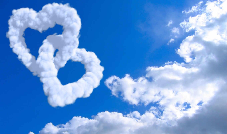 сердечки, oblaka, небо, настроения, сердца, настроение, сердце, creativ, пейзажи, облако,