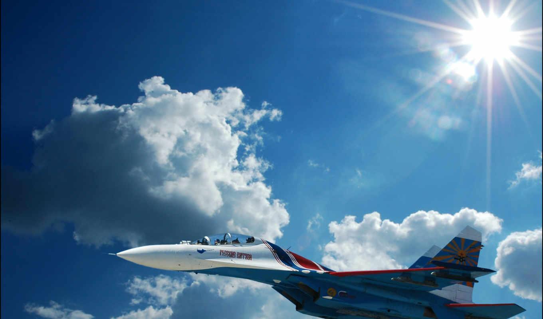 су, небо, aviation, sukhoi, истребитель, fighters, planes, облака, картинка,