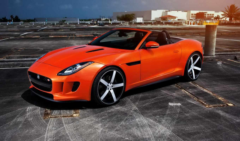 вид, jaguar, авто, родстер, vossen,