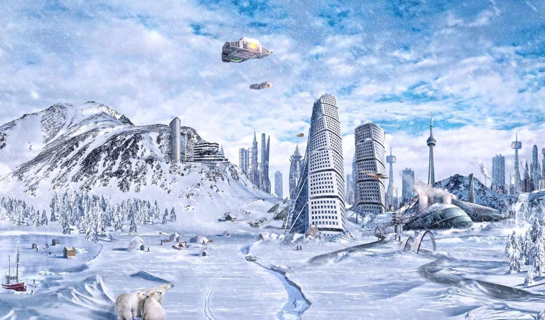 фэнтези, широкоформатные, зимы, двоих,