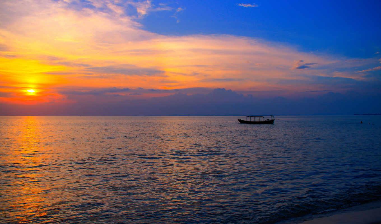 cambodia, море, alcatel, пляж, азия, лодка, от,