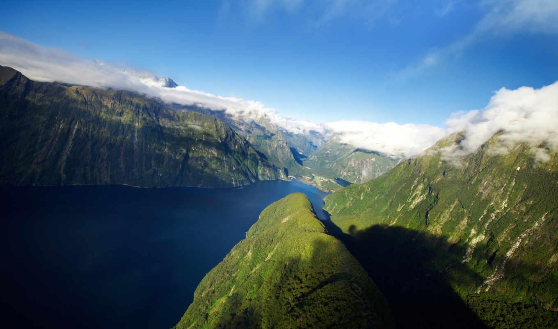 zealand, новая, горы, fjord, new,
