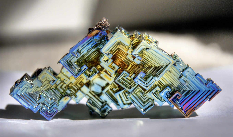 металл, кристалл, висмут, показывать, эротику,