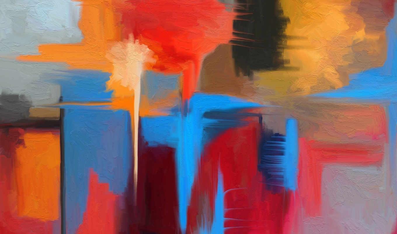 абстракция, картина, цвет,