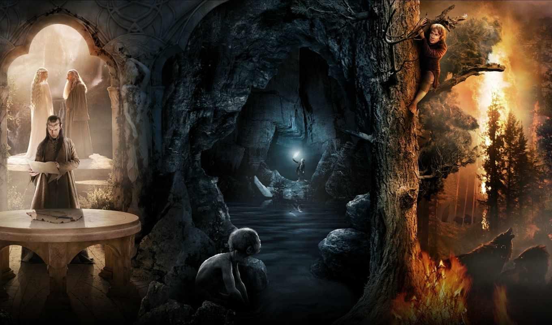 hobbit, art, ан, unexpected, постеры, колец, journey, властелин,