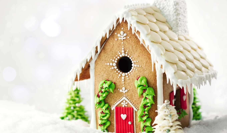 домик,, christmas, печенье, рождество
