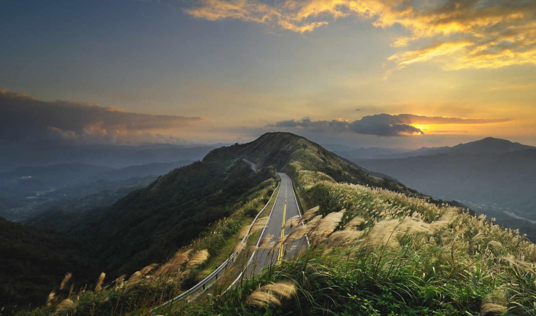 дорога, горная, дороги,