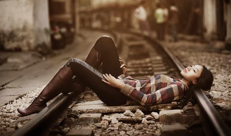 поезд, девушка, desktop, iphone, музыка,