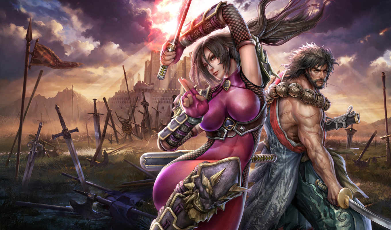 lost, swords, картинка, calibur, soul, soulcalibur, девушка, ninja, game, оружие, мечи,