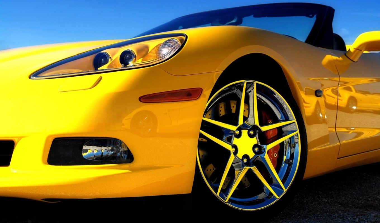 машины, желтая, машина, авто, машин, cabriolet,