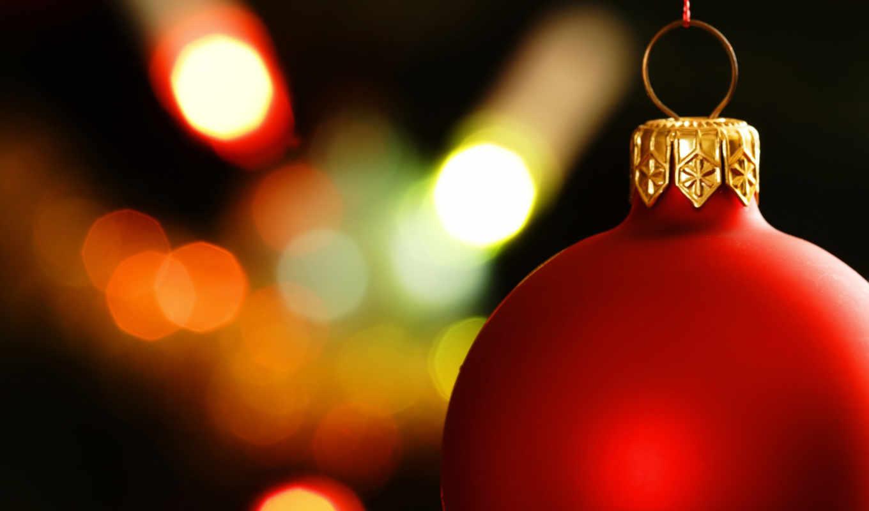 обои, шарик, шар, красный, новогодняя, открытка, е