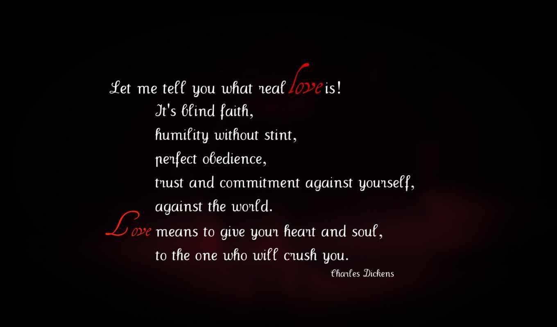love, quotes, Dickens, черный, белый, красный