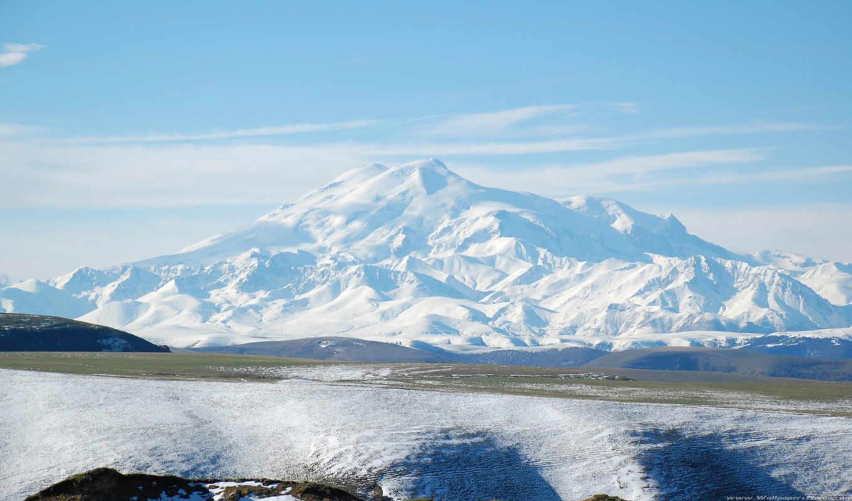 эльбрус, гора, горы, нов, высокая, вершины,