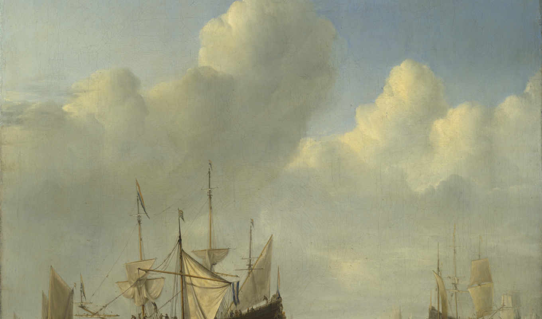 velde, willem, виллем, dutch, ван, корабль, якорь,