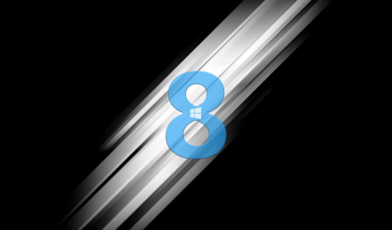 windows, eight, лого