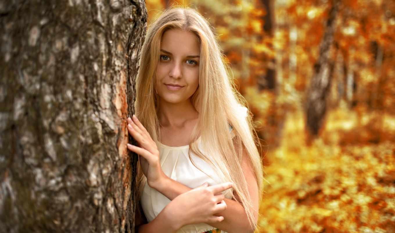 dress, autumn, photo, girl, beautiful, hair, figure, jacket, murat kuzhakhmetov, park, pose