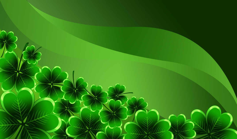 ,, зеленый, природа, лист, завод, клевер, трилистник, символ, fractal art, организм, saint patrick's day, four-leaf clover,