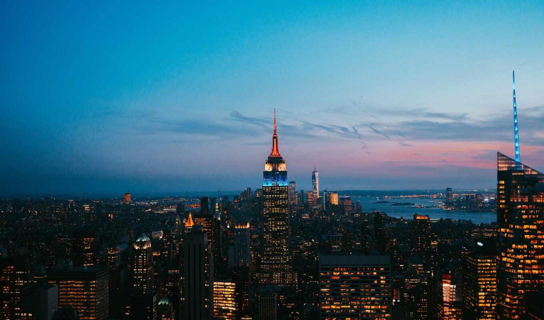 york, нью, ipad, центр, rockefell, город, new, urban, metropolis, сша