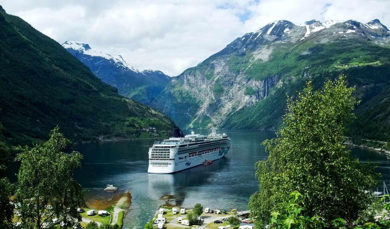 norwegian, fjord, geiranger, funart, rook