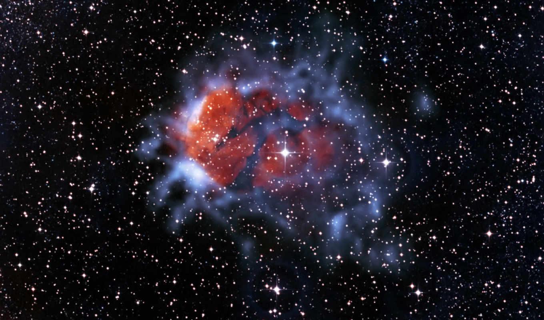 созвездие, эмиссионная, скорпион, туманность, rcw,