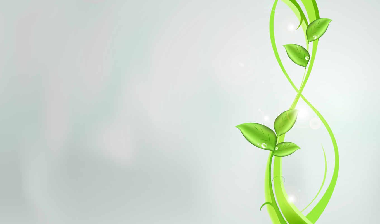 листья, абстракция, растения, узоры, зеленое, ярко, картинка,