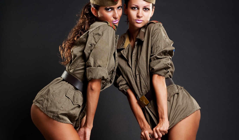 devushki, красивые, военные,