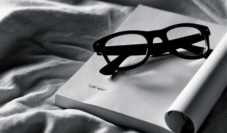 белое, чёрное, очки, ткань, notebook, разное, картинка,