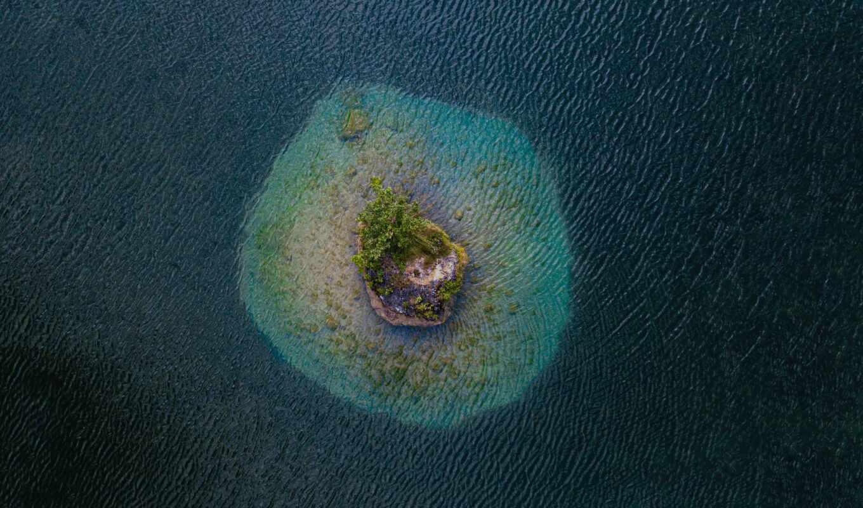 , остров, вода, озера