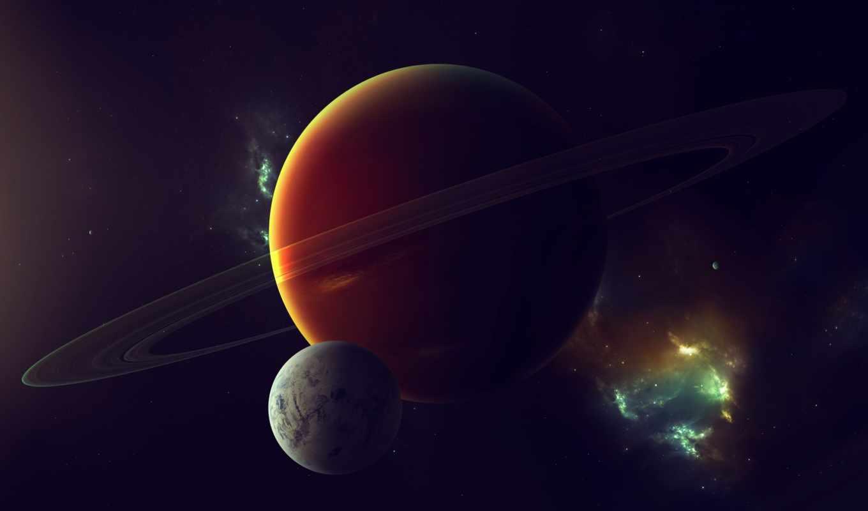 туманность, звезды, спутник, газовый, гигант, картинка, картинку, кнопкой, мыши,