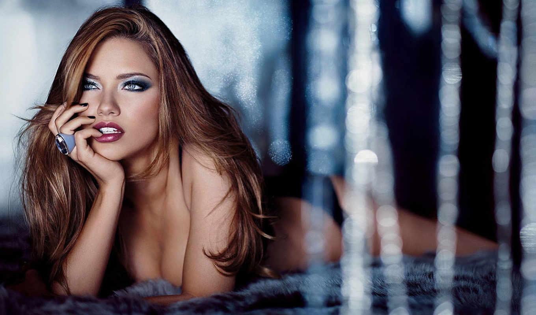 модель, девушка, adriana, lima, лицо, blonde, губы, ринг,