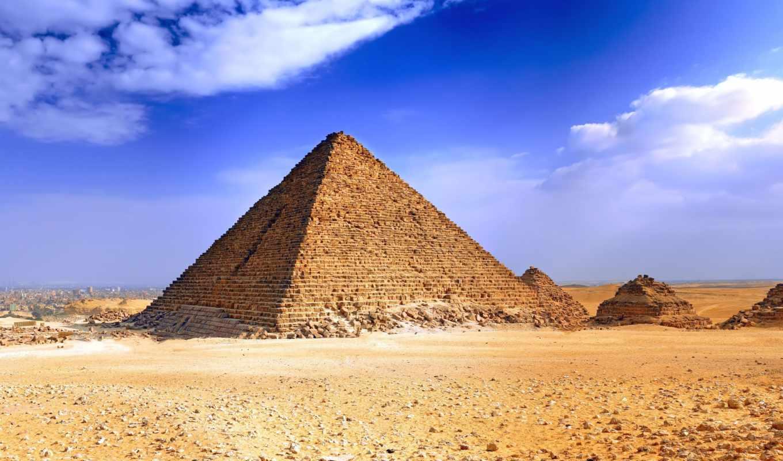египет, пирамиды, pyramids, египте, пейзаж, широкоформатные, landscapes, небо, architecture, giza,