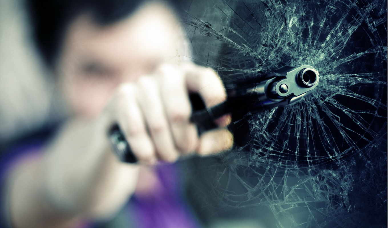 glass, разбитое, пистолет, парня, руке, fake,