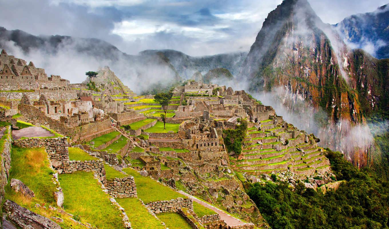 machu, picchu, peru, город, картинка, пикчу, горы,