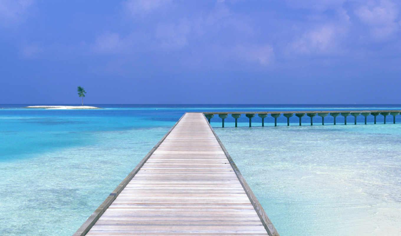 пляж, macbook, красивые, pro,