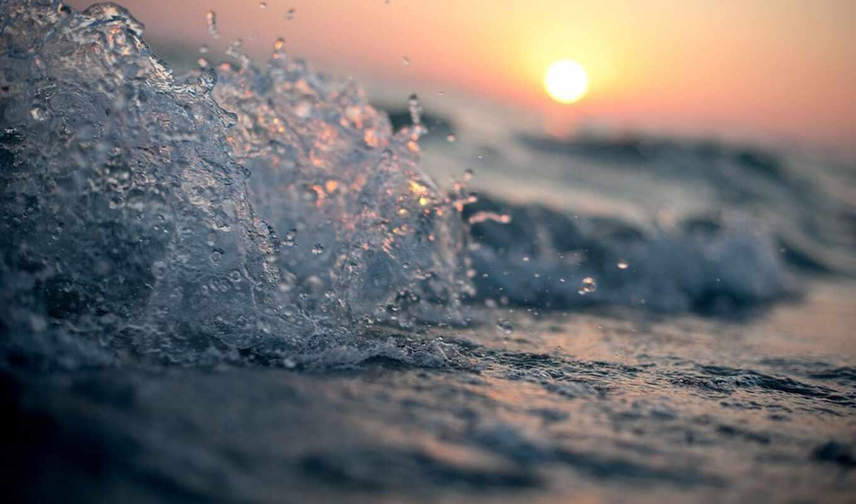 makryi, волна, море, water, закат, drop, sun, природа