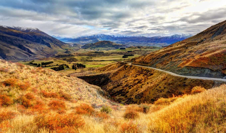 обою, смотреть, природа, размере, истинном, горы, небо, landscape, трава,