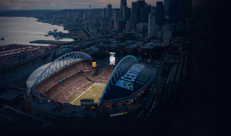 seattle, seahawks, стадион, город, поле,