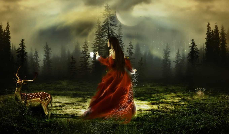 лес, магия, сказочный,