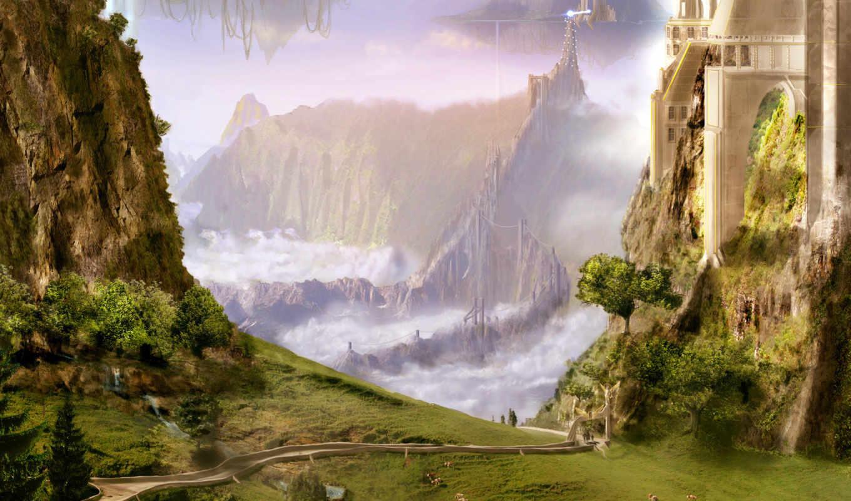 fantasy, пейзажи -, landscape, миры, стиле,